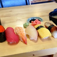 Photo taken at Sushi Mori by Happy G. on 1/6/2013
