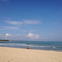 Photo taken at Pantai Kuta (Kuta Beach) by Tera Z. on 6/17/2013