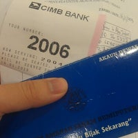 Photo taken at CIMB Bank by Suffian Z. on 1/16/2013