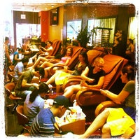 Photo taken at Kinzie Nail Spa by Lisa R. on 8/24/2012