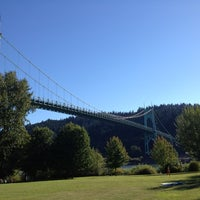 Photo taken at Cathedral Park by Josh C. on 9/2/2012