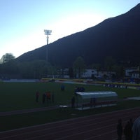 Photo taken at Stadio Comunale, Bellinzona by Chiara G. on 4/8/2012