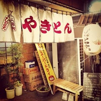 Photo taken at やきとん ひょっとこ by GOH on 4/9/2012