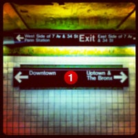 Photo taken at MTA Subway - 34th St/Penn Station (1/2/3) by Chris B. on 5/12/2012