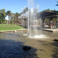 Photo taken at Parque Inés de Suárez by Manuel Alej R. on 3/18/2012