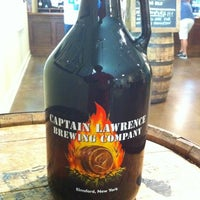 Photo taken at Captain Lawrence Brewing Company by Sam D. on 5/19/2012