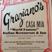 Photo taken at Graziano's Inn & Restaurant by Dan P. on 6/9/2012