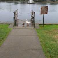 Photo taken at Byrd Park Boat (Fountain) Lake by Diallo M. on 8/19/2012