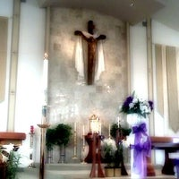 Photo taken at St. Justin Martyr Church by Eileen G. on 4/20/2012