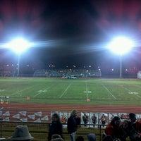 Photo taken at MHS Football Field by Marsha K. on 10/22/2011