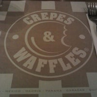 Photo taken at Crepes & Waffles by Manuel M. on 12/11/2011