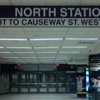 Photo taken at MBTA North Station by Allan K. on 11/10/2011