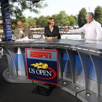 Photo taken at US Open Sports Desk by US Open Tennis Championships on 8/28/2011