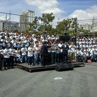 Photo taken at Plaza Luis Brión by Carlos David M. on 2/6/2012