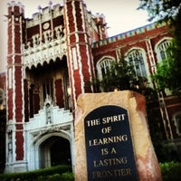 Photo taken at Bizzell Memorial Library by Courtney G. on 4/17/2012