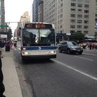 Photo taken at MTA Bus - 7 Av & W 57 St (M31/M57/X12/X14/X30/X42) by Chuck A. on 7/31/2012