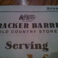 Photo taken at Cracker Barrel Old Country Store by John on 1/28/2012