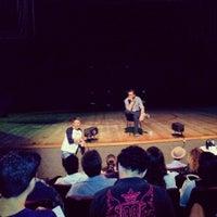 Photo taken at Teatro Municipal de Itajaí by Jair Z. on 8/19/2012