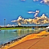 Photo taken at Camsur Watersports Complex (CWC) by Don G. on 4/28/2012