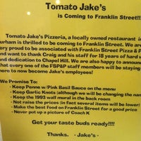Photo taken at Franklin St Pizza and Pasta by Alex B. on 3/25/2012