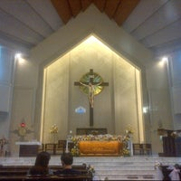 Photo taken at Gereja Katolik Santo Yakobus by Kenny H. on 7/15/2012