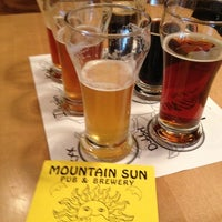 Photo taken at Mountain Sun Pub & Brewery by Todd on 5/7/2012
