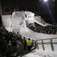 Photo taken at Red Bull Crashed Ice 2014 by Sam W. on 1/15/2012