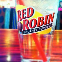Photo taken at Red Robin Gourmet Burgers by Tyler B. on 3/4/2012