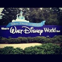 Photo taken at Walt Disney World Entrance by Evgeny Z. on 8/14/2012