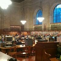 Photo taken at Rose Main Reading Room - New York Public Library by Gen w. on 1/23/2012