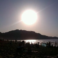 Photo taken at Playa de Zarautz by Leire O. on 8/8/2012