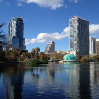 Photo taken at Lake Eola Park by Brittany N. on 12/31/2011