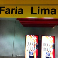 Photo taken at Estação Faria Lima (Metrô) by Juninho Cavalcante on 7/21/2012