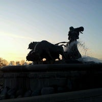 Photo taken at Gefionspringvandet (Gefion Fountain) by Jan Friborg J. on 3/23/2012