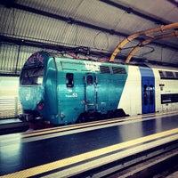 Photo taken at Fiumicino Aeroporto railway station (ZRR) by Mikhail S. on 7/7/2012