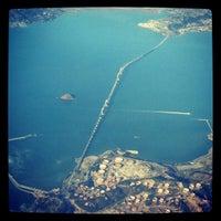 Photo taken at Richmond-San Rafael Bridge by Marjoo G. on 1/30/2012