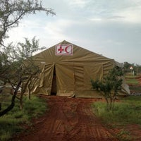 Photo taken at Kenya Red Cross Dadaab base camp by Philip O. on 11/24/2011