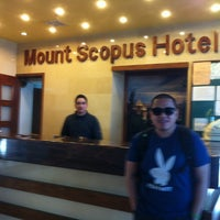 Photo taken at Mount Scopus Hotel by Jerick J. on 3/30/2012