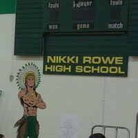Photo taken at Nikki Rowe High School by Stef ツ. on 9/10/2011