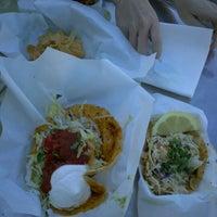 Photo taken at Sky's Gourmet Tacos by SumMilkNCookies on 3/8/2012