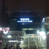 Photo taken at Cheongnyangni Stn. by kim h. on 6/16/2012