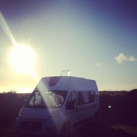 Photo taken at Tregurrian Camping and Caravanning Club Site by Mat M. on 7/7/2012