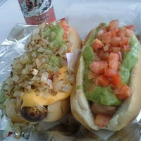 Photo taken at Pink's Hot Dogs by Jeannette L. on 8/27/2012