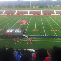 Photo taken at Kenneth P. LaValle Stadium by Mehmet T. on 8/25/2012