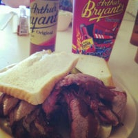 Photo taken at Arthur Bryant's Barbeque by Bob F. on 9/6/2012