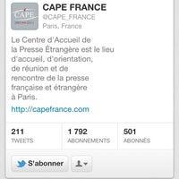 Photo taken at CAPE Centre d'Accueil de la Presse Etrangère by Najett d. on 3/20/2012