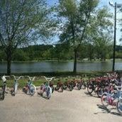 Photo taken at Ellis Park by Christoph T. on 8/3/2012