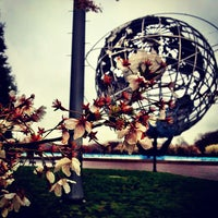 Photo taken at The Unisphere by Ryan M. on 3/31/2012
