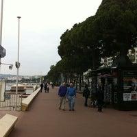 Photo taken at Boulevard de La Croisette by Pavel A. on 2/27/2011