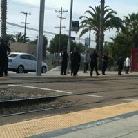 Photo taken at Palm Avenue Trolley Station by Amanda C. on 5/9/2012